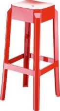 Thermo Plastic Fox Stacking Stool - Red